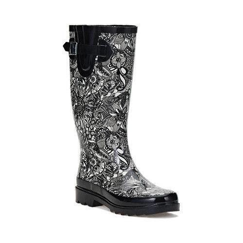 d1d499c50 Shop Sakroots Rhythm Rain Boot Black & White Spirit Desert - Free ...