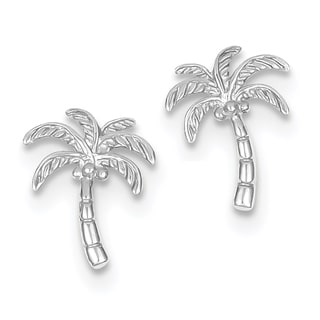 Link to 14K White Gold High Polished Palm Tree Post Earrings by Versil Similar Items in Earrings