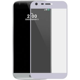 Insten Silver/ Clear Tempered Glass LCD Screen Protector Film Cover For LG G6