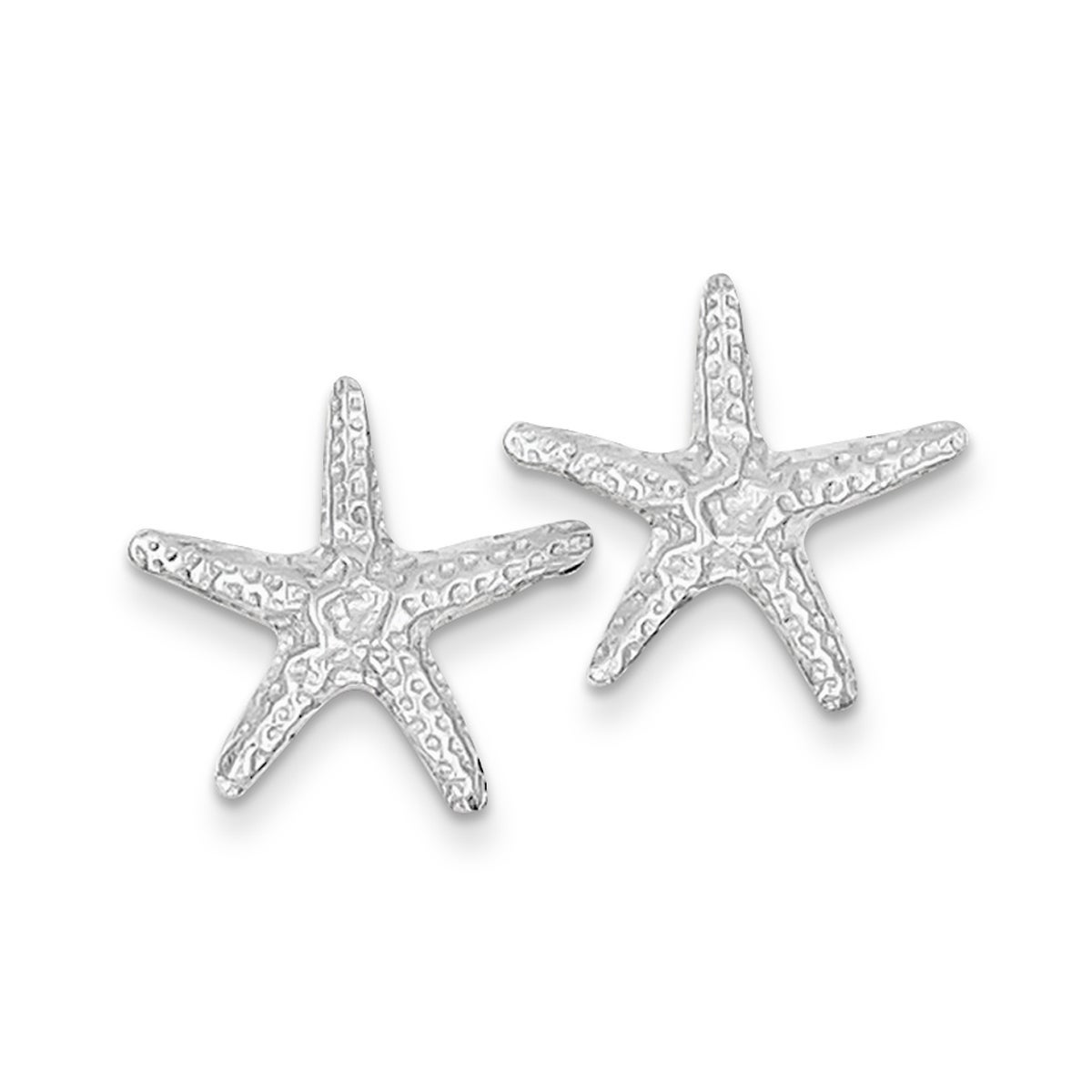 Details About Versil 14 Karat White Gold Starfish Post Earrings