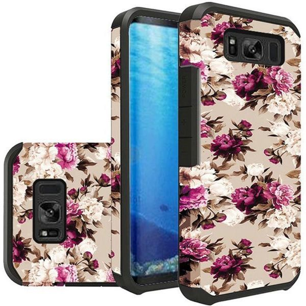Insten Multi-Color Roses Slim Hard Snap-on Dual Layer Hybrid Case Cover For Samsung Galaxy S8