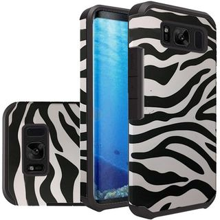 Insten Black/ White Zebra Slim Hard Snap-on Dual Layer Hybrid Case Cover For Samsung Galaxy S8