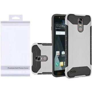 Insten White/ Black Slim Armor Hard Snap-on Dual Layer Hybrid Case Cover For LG Stylo 3 LS777/ K10 Pro/ Stylus 3