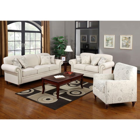 French Traditional Design Living Room Sofa Collection with Nailhead Trim