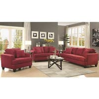 Frankfurt Modern Tufted Design Red Living Room Sofa Collection