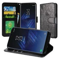 Insten Leatherette Case Cover Lanyard with Stand/ Wallet Flap Pouch/ Photo Display For Samsung Galaxy S8