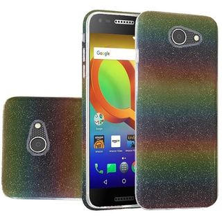 Insten Colorful Clear Hard Snap-on Glitter Case Cover For Alcatel A30/ Kora