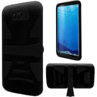 Insten Hard Snap-on Dual Layer Hybrid Case Cover with Stand For Samsung Galaxy S8
