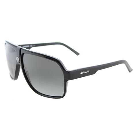 Carrera Carrera 33/S 807 PT Black Plastic Aviator Sunglasses Grey Gradient Lens