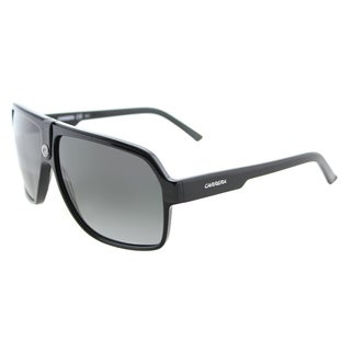 Carrera Carrera 33/S 807 PT Black Plastic Aviator Sunglasses Grey Gradient Lens