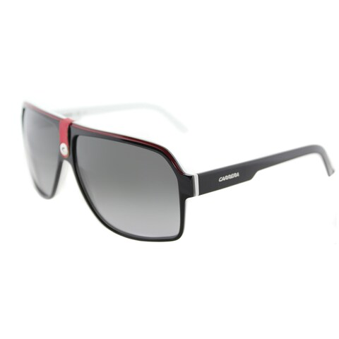 Carrera Aviator 33/S 8V4 PT Black Crystal Red Frame Grey Gradient Lens Sunglasses