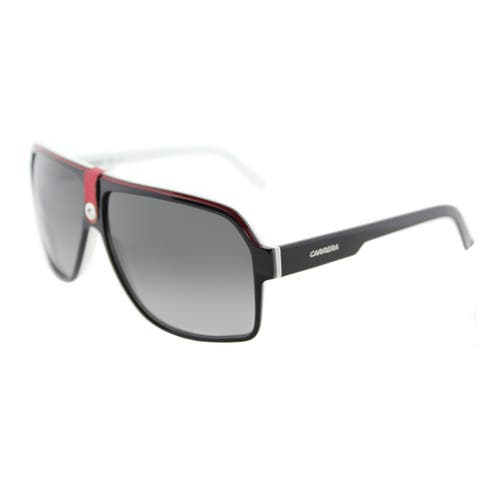 fd60f7d6a2581 Carrera Carrera 33 S 8V4 PT Black Crystal Red Plastic Aviator Sunglasses  Grey Gradient Lens