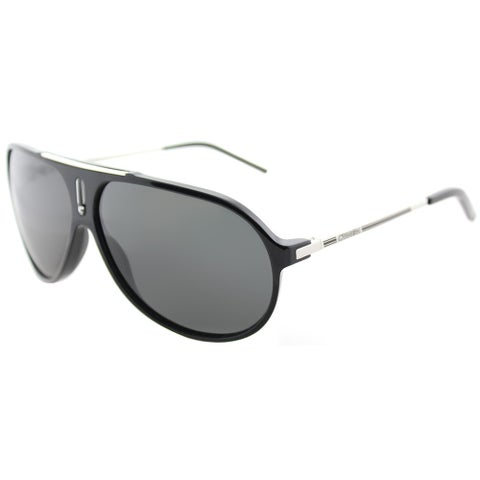 Carrera Hot/S CSA RA Black Palladium Plastic Aviator Sunglasses Grey Polarized Lens