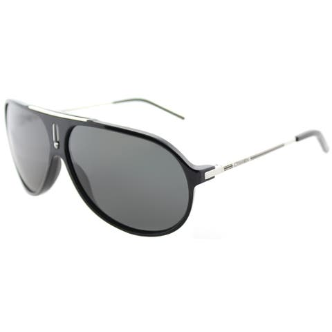 56a352c9c2ec2 Carrera Hot S CSA RA Black Palladium Plastic Aviator Sunglasses Grey  Polarized Lens