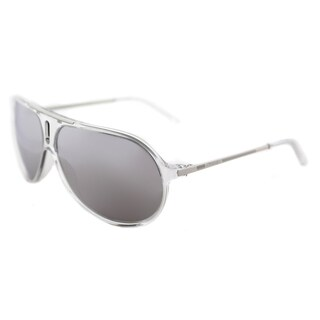 Carrera Hot/S GKZ DC Crystal Plastic Aviator Sunglasses Silver Mirror Lens