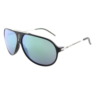 Carrera Hot/S YCG Z9 Matte Black Palladium Plastic Aviator Sunglasses Green Mirror Lens