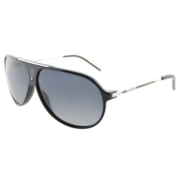 cd0b7914cb24 Carrera Hot/P CSA Black Palladium Plastic Aviator Sunglasses Grey Shaded  Polarized Lens