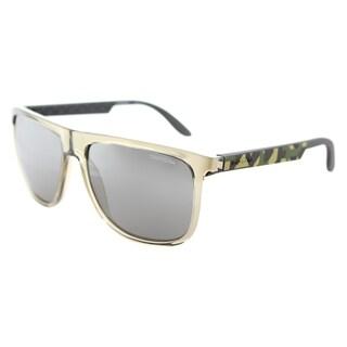 Carrera Carrera 5003/S 6NY Grey Caramel Sand Plastic Square Sunglasses Black Mirror Lens