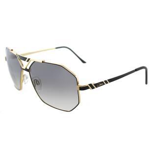 2a6f3c8cc974 Cazal Cazal 9058 001SG Black Gold Metal Aviator Sunglasses Grey Gradient  Lens