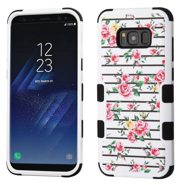 Insten Multi-Color Roses Tuff Hard Snap-on Dual Layer Hybrid Case Cover For Samsung Galaxy S8