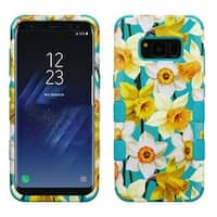 Insten Colorful Spring Daffodils Tuff Hard Snap-on Dual Layer Hybrid Case Cover For Samsung Galaxy S8
