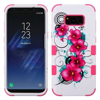 Insten Multi-Color Morning Petunias Tuff Hard Snap-on Dual Layer Hybrid Case Cover For Samsung Galaxy S8 Plus S8+