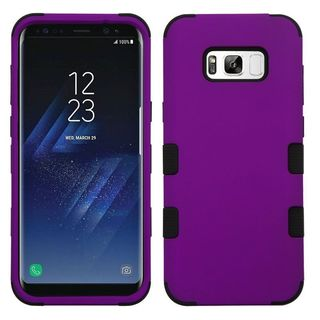 Insten Purple/ Black Tuff Hard Snap-on Dual Layer Hybrid Case Cover For Samsung Galaxy S8 Plus S8+