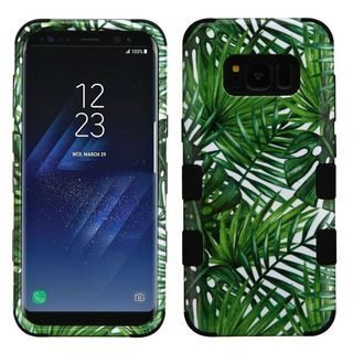 Insten Green Tropical Palms Tuff Hard Snap-on Dual Layer Hybrid Case Cover For Samsung Galaxy S8 Plus S8+
