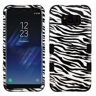 Insten Black/ White Zebra Tuff Hard Snap-on Dual Layer Hybrid Case Cover For Samsung Galaxy S8 Plus S8+