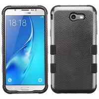 Insten Black Carbon Fiber Tuff Hard Snap-on Dual Layer Hybrid Case Cover For Samsung Galaxy J7 (2017)/ J7 Perx/ J7 Sky Pro/ J7 V