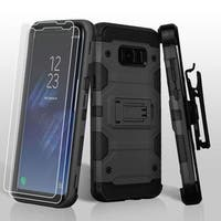 Insten Hard Snap-on Dual Layer Hybrid Case Cover Lanyard with Stand/ Bundled For Samsung Galaxy S8
