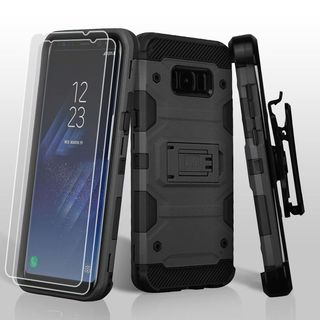 Insten Hard Snap-on Dual Layer Hybrid Case Cover Lanyard with Stand/ Bundled For Samsung Galaxy S8 Plus S8+