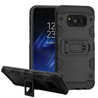 Insten Hard Snap-on Dual Layer Hybrid Case Cover with Stand For Samsung Galaxy S8 Plus S8+