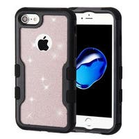 Insten Hard Snap-on Dual Layer Hybrid Glitter Case Cover For Apple iPhone 7