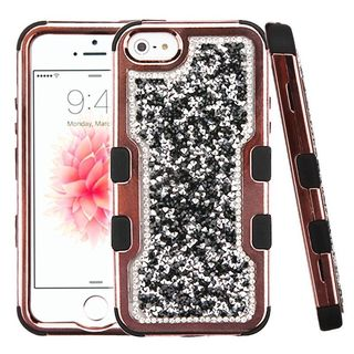 Insten Hard Snap-on Dual Layer Hybrid Glitter Case Cover For Apple iPhone 5/ 5S/ SE