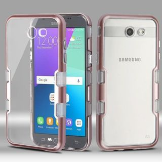 Insten Hard Snap-on Dual Layer Hybrid Metal Case Cover For Samsung Galaxy Amp Prime 2/ Express Prime 2/ J3 (2017)/ J3 Emerge