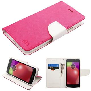 Insten Leather Case Cover with Stand/ Wallet Flap Pouch For Motorola Moto E4