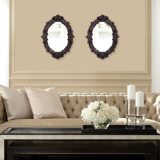 Diana Black Resin Wall Mirror