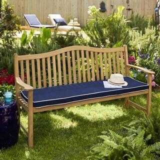 Cottage Teak Bench Cushion with Sunbrella Fabric