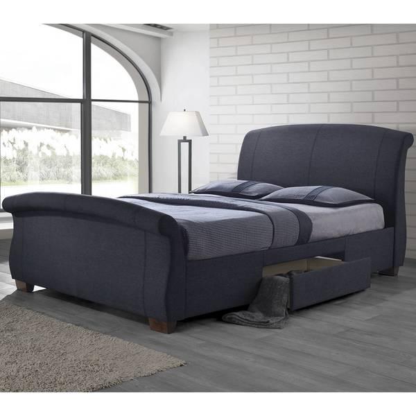 Shop Modern Sleigh Design Upholstered Storage Bed Free