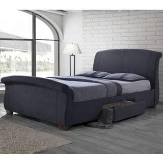 Baxton Studio Ashenhurst White Modern Sleigh Bed With