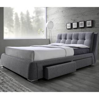 Tufted Design Upholstered Storage Bed with Pillow Top Headboard