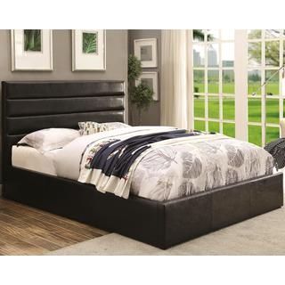 Modern Design Upholstered Storage Bed with Padded Headboard