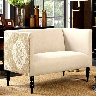 Exquisite Design Modern Living Room Settee with Medallion Pattern