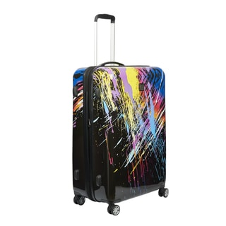 Ful 80's Rainbow 20-inch Carry On Expandable Hardside Spinner Suitcase