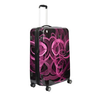 Ful Atomic Pink 20-inch Carry On Expandable Hardside Spinner Suitcase