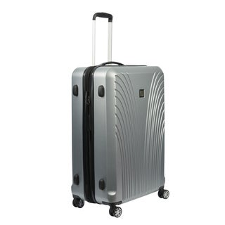 Ful Curve Geo Silver 21-inch Carry On Expandable Hardside Spinner Suitcase