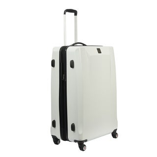 Ful High Loader White 21-inch Carry On Expandable Hardside Spinner Suitcase