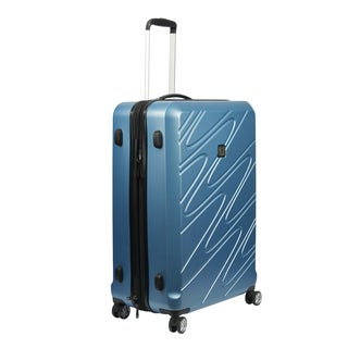 Ful Scribble Carolina Blue 21-inch Carry On Expandable Hardside Spinner Suitcase
