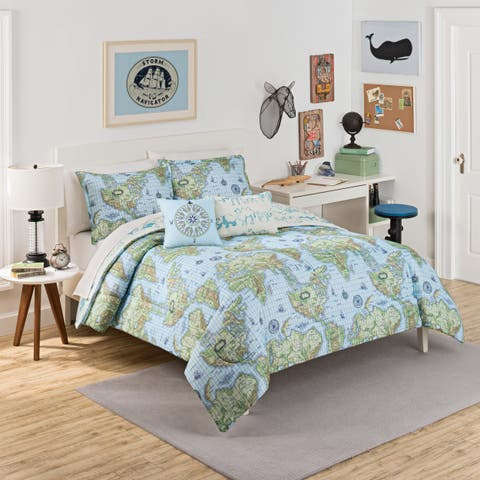 Waverly Kids Buon Viaggio Reversible 3-piece Comforter Set